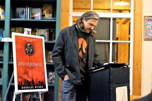 Douglas Wynne reading Red Equinox at Jabberwocky Bookshop.