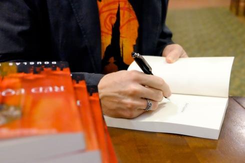 Signing Red Equinox at Jabberwocky Bookshop.